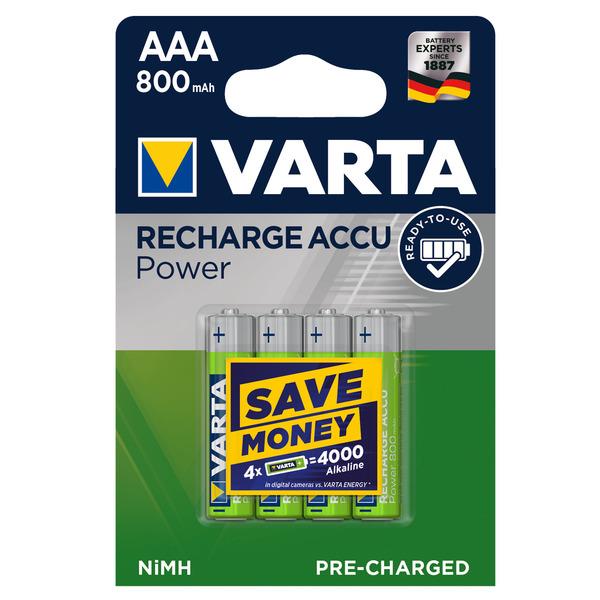 VARTA RECH.ACCU Power AAA 800mAh Blister 4