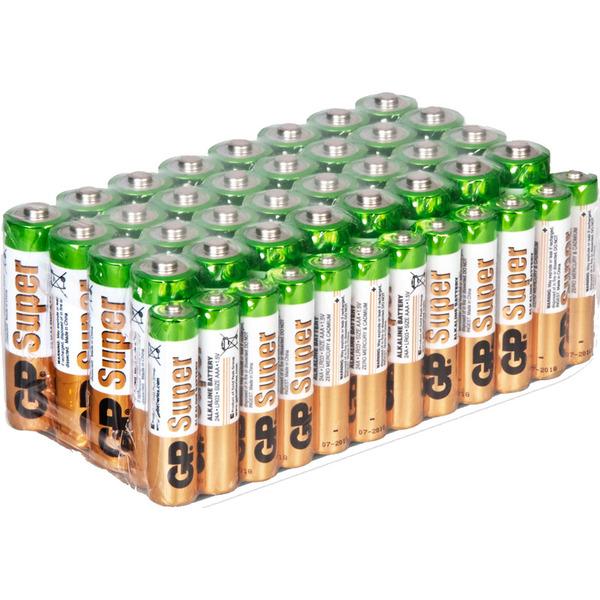 GP Alkaline Batterie Vorratspack 12 x Micro AAA und 32 x Mignon AA