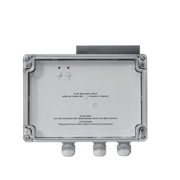 Homematic 2-Kanal-Funk-Dimmer Phasenanschnitt, Aufputzmontage HM-LC-Dim2L-SM