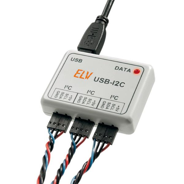 ELV Komplettbausatz USB-I2C-Interface, inkl. Gehäuse, USB-Kabel, 3 Anschlusskabel