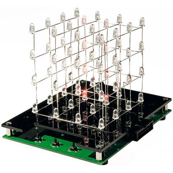 ELV Bausatz LED-Cube LC444, 4x4x4 LEDs