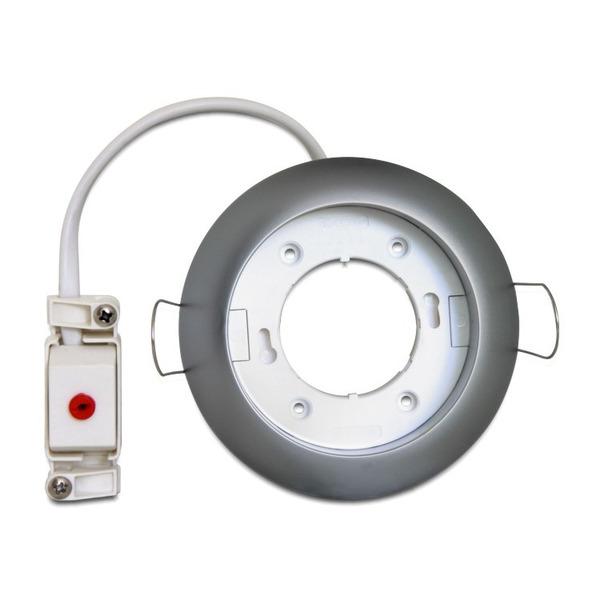 Delock Lighting Einbaufassung GX53,chrom, rund