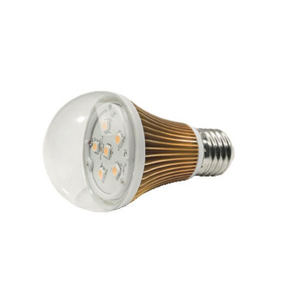 LEDGalaxy E27-Rundreflektor, kupferverchromt, warmweiss