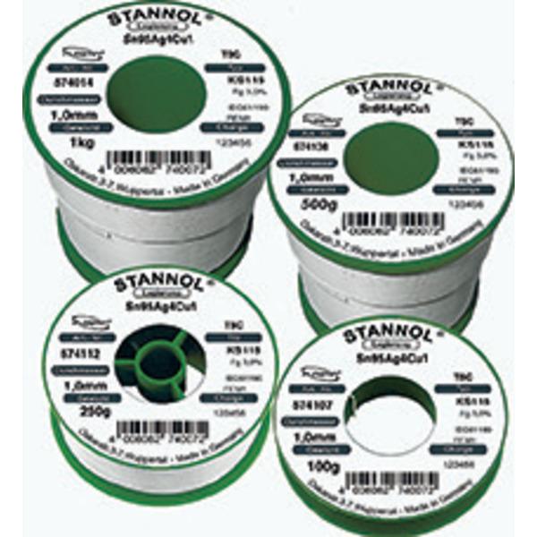 Stannol Flowtin KS 115 TSC Lötzinn, 1,2mm, 100g-Spule
