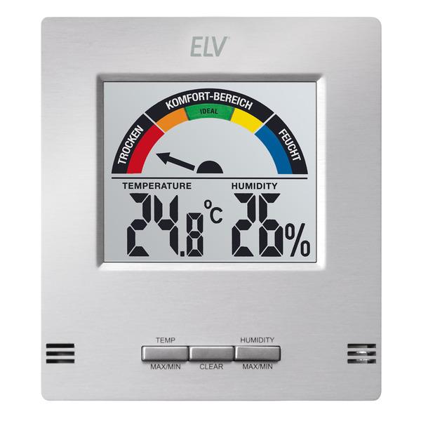 ELV LCD-Klima-Komfort-Anzeige, Temperatur und Luftfeuchte