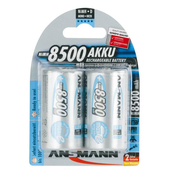 Ansmann maxE NiMH-Akku Mono 8500 mAh, 2er Pack