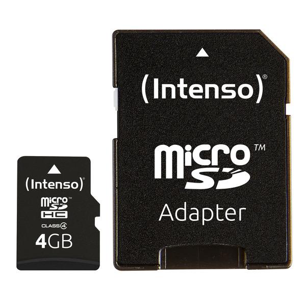 Intenso Speicherkarte microSDHC, Class 4, 21 MB/s, 4 GB