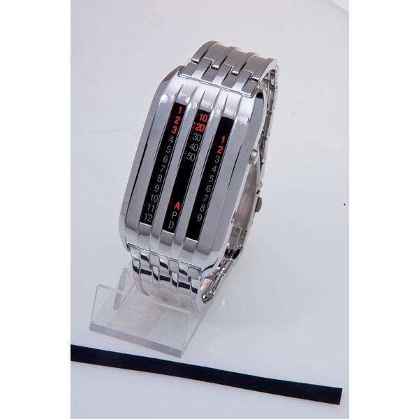 LED-Armbanduhr Chrom