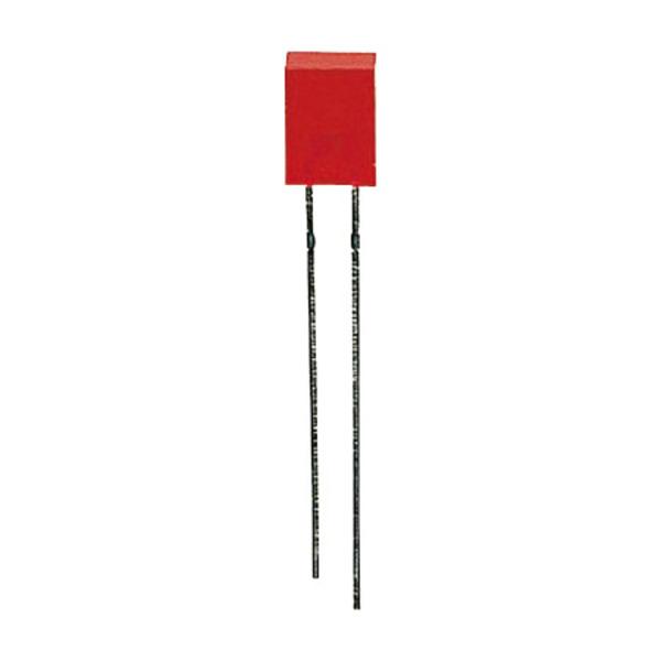 10x LED Rechteck 2 x 5 mm, Rot