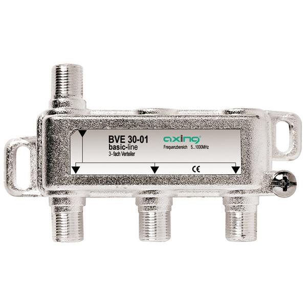 Axing BK 3-fach Verteiler BVE 30-01, 5-1000 MHz