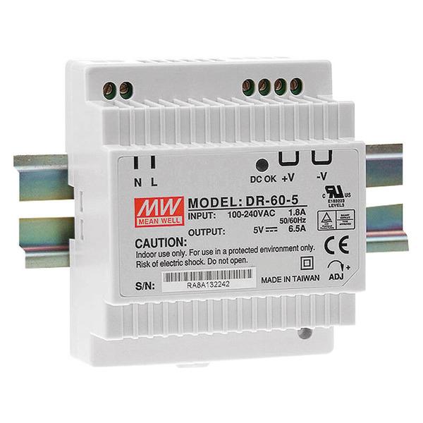 Mean Well Hutschienennetzteil DR-60-24 , 24V für Smart Home / Hausautomation