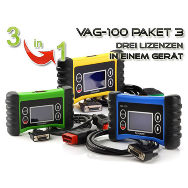 Duonix VAG-100-3 3in1 Profi-Handheld-OBD-2-Diagnosescanner