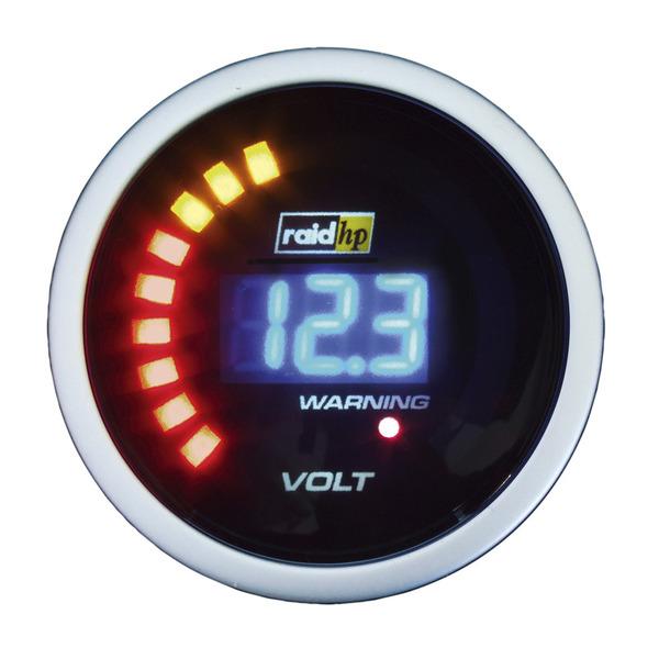 raid hp Night Flight Digital Blue Zusatzinstrument Voltmeter