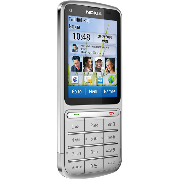 Nokia C3 Touch and Type Touchscreen-Handy, silber