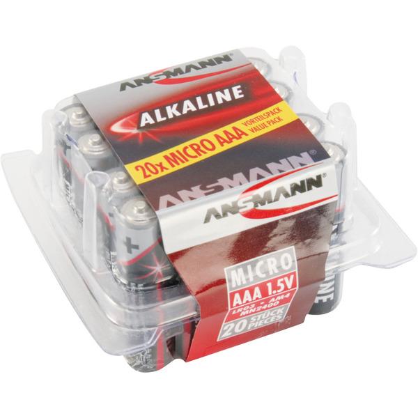 Ansmann Red Line Alkaline-Batterie Micro, 20er Pack
