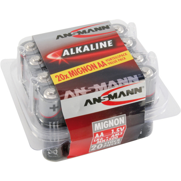 Ansmann Red Line Alkaline-Batterie Mignon, 20er Pack