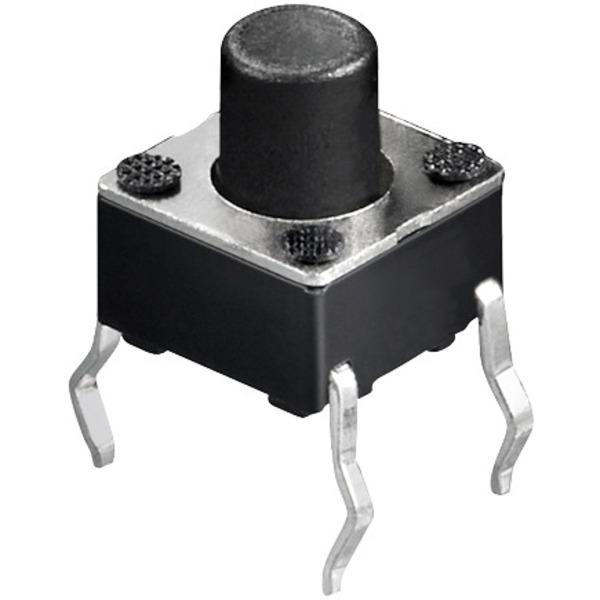 Miniatur-Drucktaster 1x ein, Knopflänge 3,5 mm