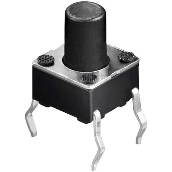 Miniatur-Drucktaster 1x ein, Knopflänge 4,5 mm
