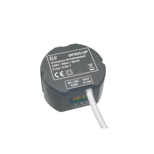 Mini Stereo RDS-Radiomodul Unterputz RDS100UP, Komplettbausatz inkl. 5V-Schaltnetzteil SPS05UP, Komp