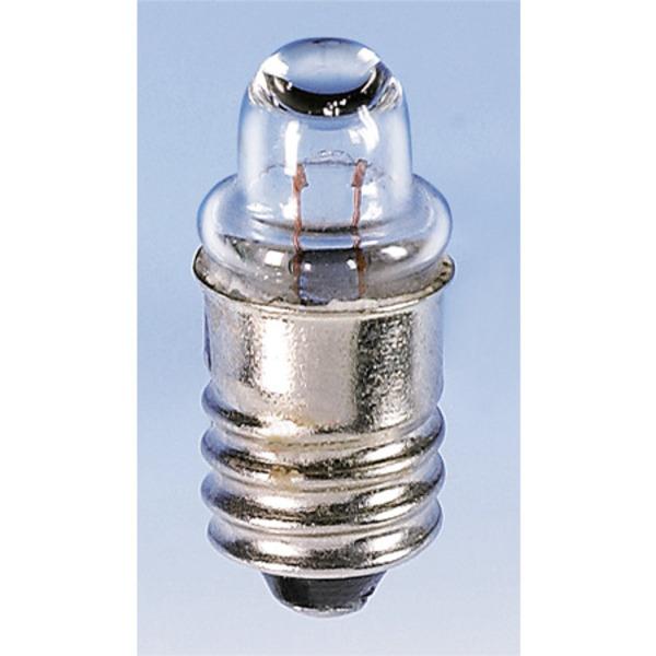 Barthelme Taschenlampen-Leuchtmittel Sockel E10, NF-Breitlinse, 9 x 25 mm, 3,7 V
