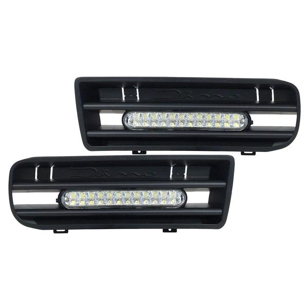 Dino LED-Tagfahrlicht-Set mit Grilleinsätzen für VW Golf 4