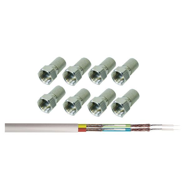 Koaxial-Kabel-Set Quattro