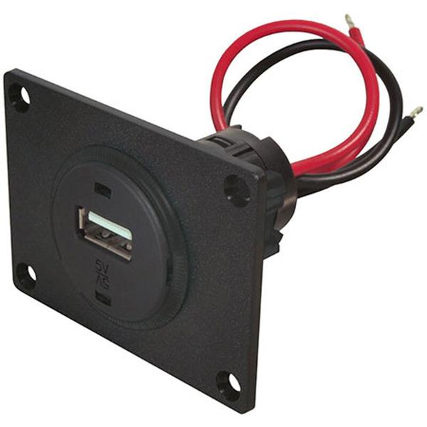 Pro Car USB-Einbausteckdose mit Montageplatte, 12 V / 5 V, 1000 mA