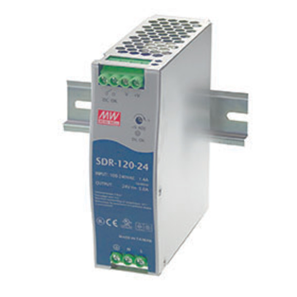 Mean Well 24V/120W Hutschienennetzteil SDR120-24