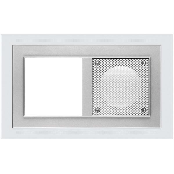 Peha LED-Leuchtrahmen, 2-fach, weißes Licht, alu lackiert
