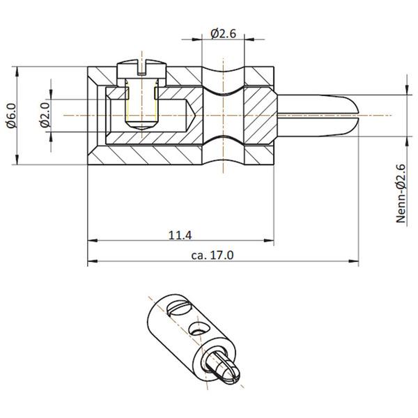 HO-Stecker 2,6 mm, braun