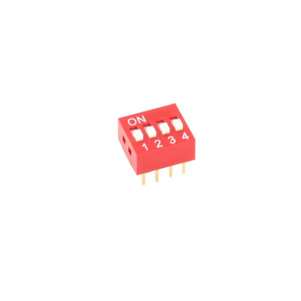 DIP-Schalter RM2,54 4-pol