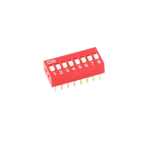 DIP-Schalter RM2,54 8-pol