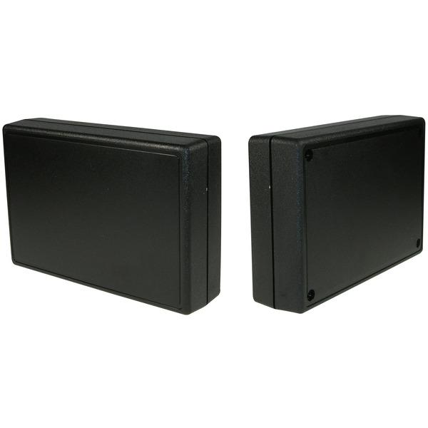 Strapubox Kunststoff-Gehäuse 2017 ABS 134 x 90 x 33 mm, schwarz