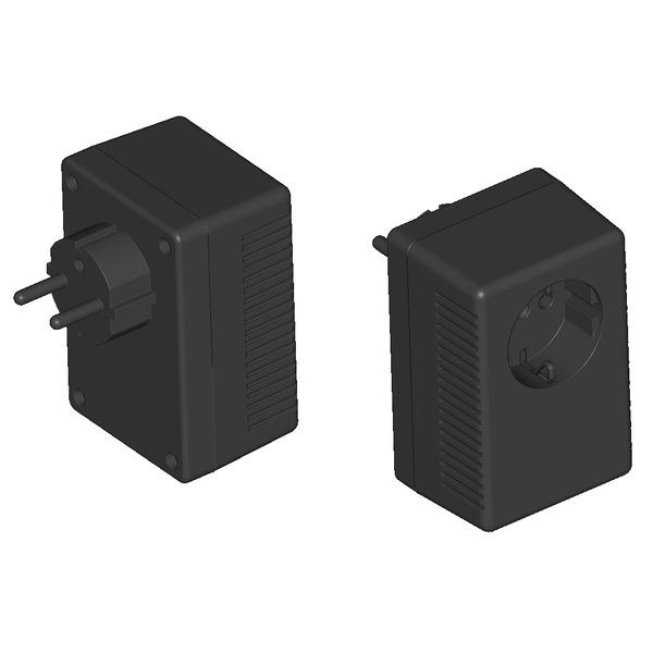 Strapubox Stecker-Gehäuse SG 922 ABS 95,5 x 63 x 53 mm, schwarz