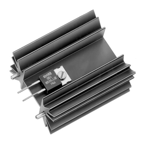 Fischer Elektronik Strangkühlkörper SK 129/50,8 STS für Schraubenbefestigung