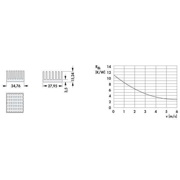 Fischer Elektronik Kühlkörper ICK PGA 11 x 11 für Pin Grid Array