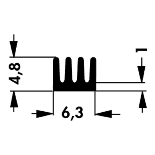 Fischer Elektronik SMD Kühlkörper ICK SMD A 13 SA gerade gerippt