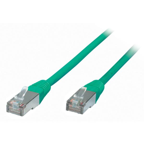 S-Conn Patchkabel, Cat. 6, S/FTP, PIMF, halogenfrei, grün, 0,25 m