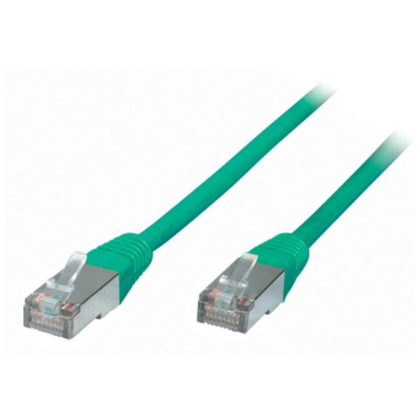 S-Conn Patchkabel, Cat. 6, S/FTP, PIMF, halogenfrei, grün, 3,0 m