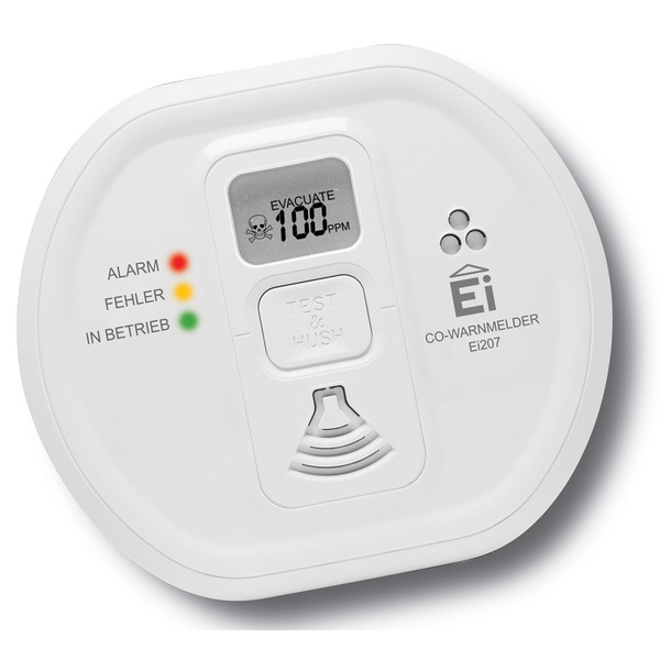 Ei Electronics Kohlenmonoxidwarnmelder EI207D-D mit LC-Display