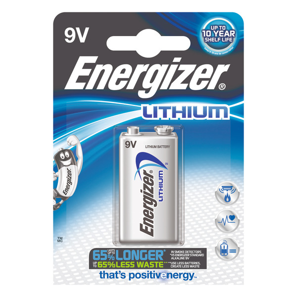 Energizer Ultimate Lithium-Batterie 9-V-Block