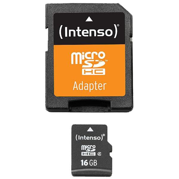 Intenso Speicherkarte microSDHC, Class 4, 21 MB/s, 16 GB