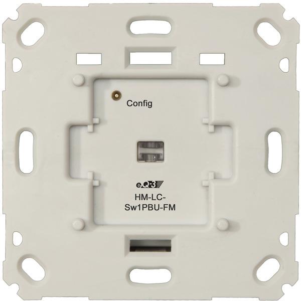 Homematic 3er-Set Funk-Schaltaktor für Markenschalter, 1fach Unterputzmontage HM-LC-Sw1PBU-FM für Sm
