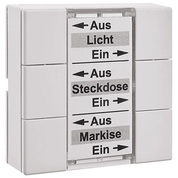 ELV Homematic Komplettbausatz 6-Tasten-Wandsender HM-PB-6-WM55, für Smart Home / Hausautomation