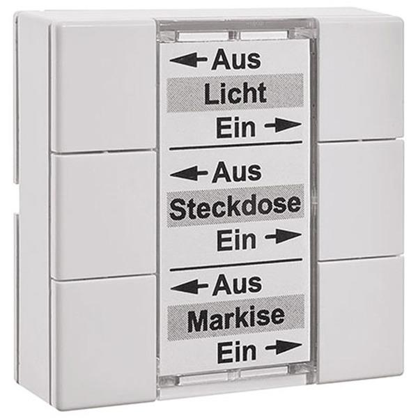 Homematic Funk-Wandsender 6fach HM-PB-6-WM55 für Smart Home / Hausautomation