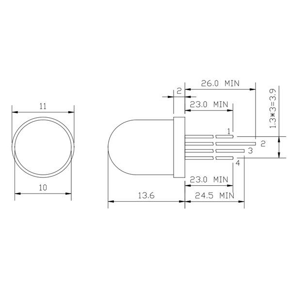ELV Spar-Set 5x5x5-RGB-Cube RGBC555, Komplettbausatz inkl. LEDs und Netzteil