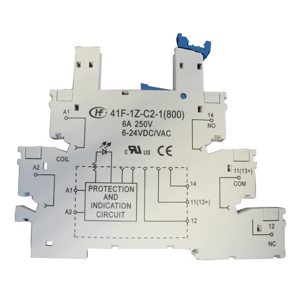 HONGFA Relais-Sockel, 41F-1Z-C2-1