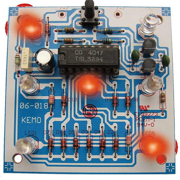 Kemo B093 Elektronischer Würfel, Bausatz