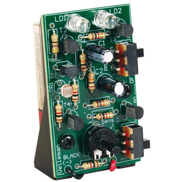 Velleman Bausatz Blinklicht mit 2 sehr hellen roten LEDs MK148
