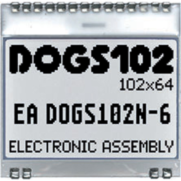 Electronic Assembly LCD-Grafikdisplay EA DOGS102W-6 102x64 Pixel